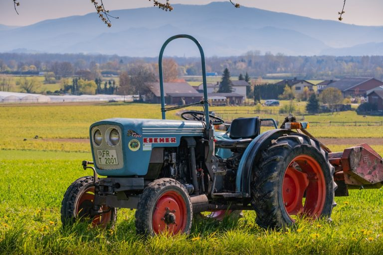 tractor at the fields