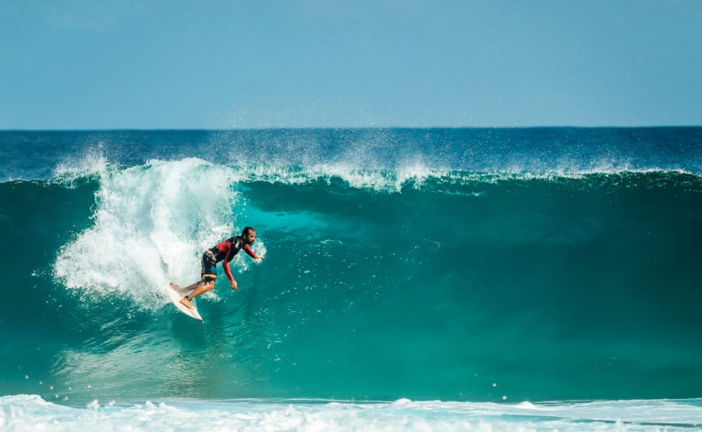 man surfing